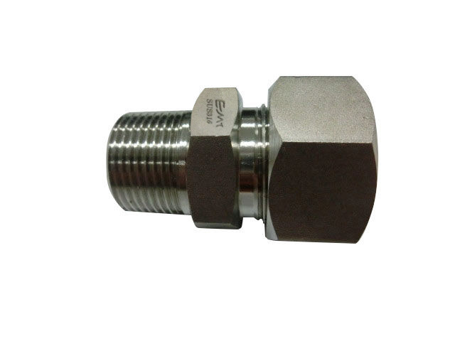 Quot ss metric light duty male bspt adaptor with ring